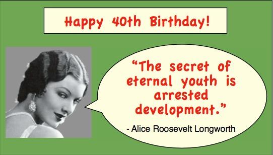 Funny 40th Birthday Sayings – Arrested Development Birthday Card