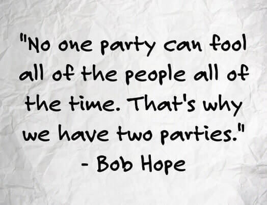 Parchment-type paper with a Bob Hope quotation: