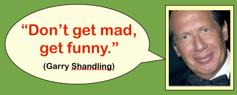 Head shot of comedian Garry Shandling with quote: