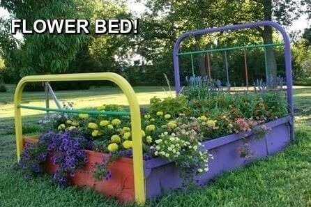 redneck flower bed