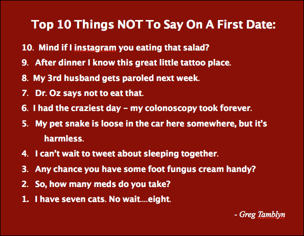 Funny sayings about dating sites