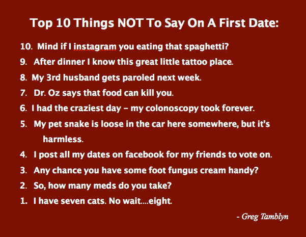 Funny Things To Say About Dating