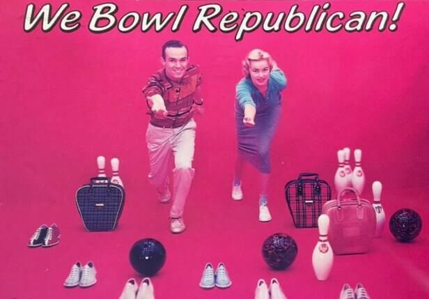 Republican Jokes: Photo of a couple bowling, with the caption
