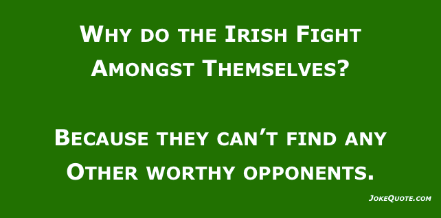 Funny Irish Jokes: one-liner