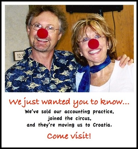 Great April Fools Jokes: 2 people in clown noses