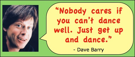 Head shot of humor writer Dave Barry with quote:
