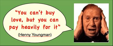 Funny Valentines Quote and photo of Henny Youngman