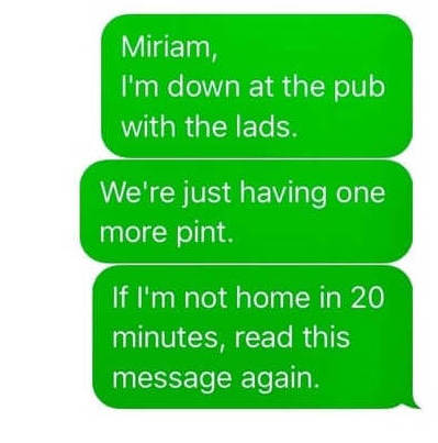 Funny Irish Sayings: Text Message